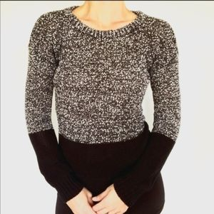 FRENCH CONNECTION Color Block Boucle Sweater Top M